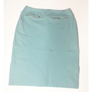 St. John Sport Robin Egg Blue Pencil Skirt Sz 6